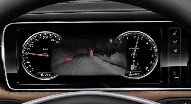 Mercedes Maybach S650 2018 được trang bị Hệ thống hỗ trợ quan sát ban đêm Night View Assist Plus