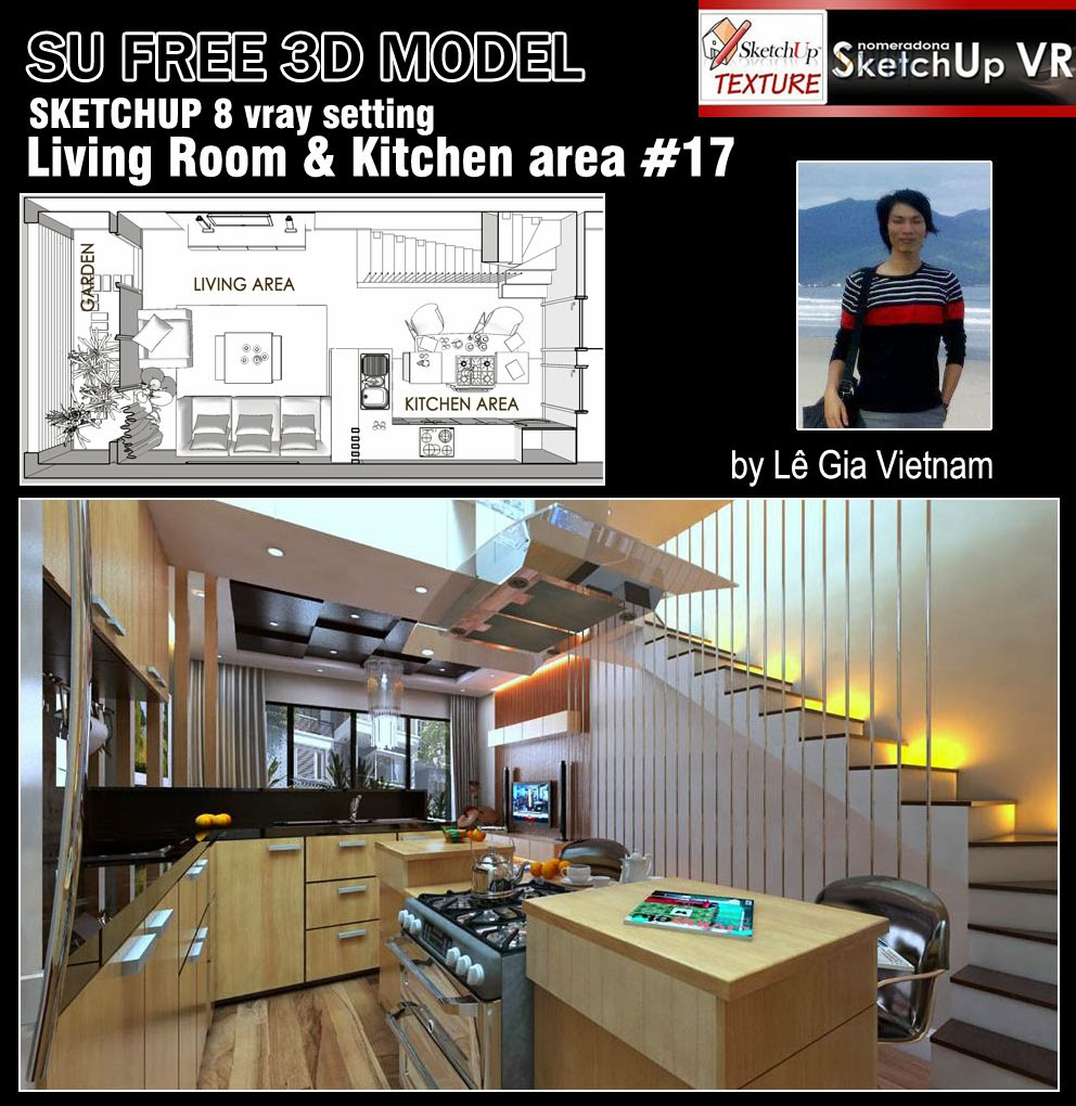 SKETCHUP TEXTURE: FREE SKETCHUP 3D MODEL LIVING AREA #17