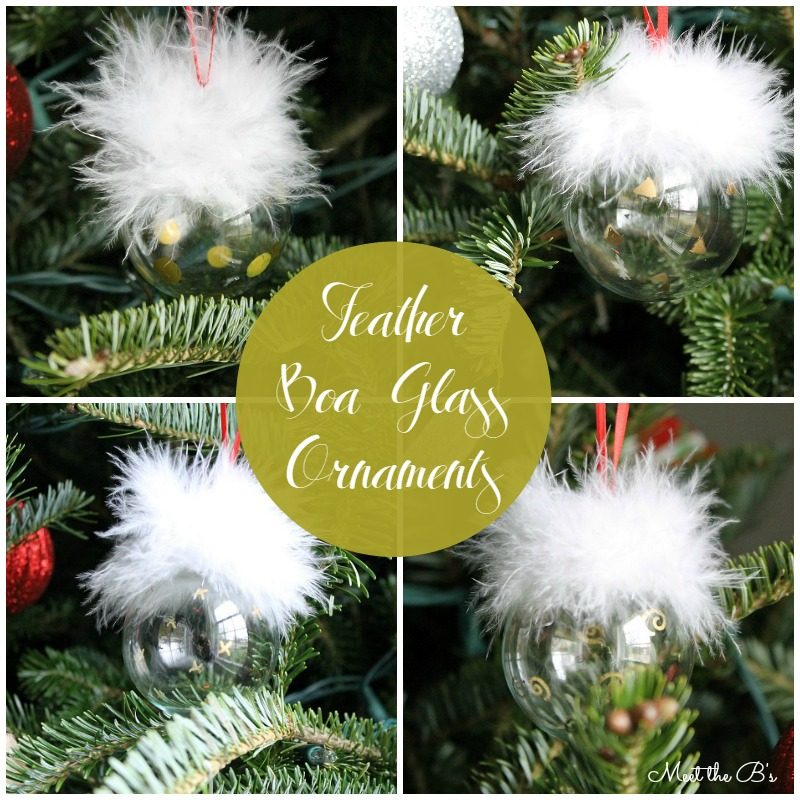 Monthly DIY Challenge- feather boa ornaments