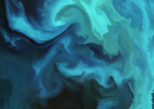florescer de fitoplânctons, no mar de Barents, no Ártico