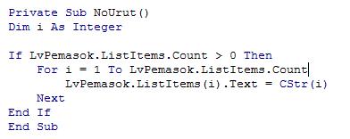 Menampilkan Data dari Database pada ListView VB6