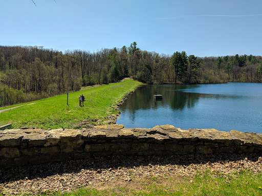 Cox Hollow Lake Dam and Lakeview Trail