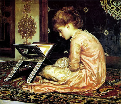 Frederic Leighton - Study at a Reading Desk, 1877