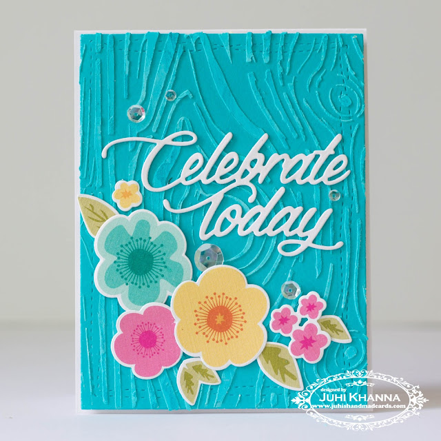 #PTI color pop florals with textured woodgrain background