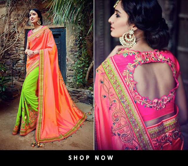 Latest Embroidered Saree collection 2017