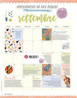 Calendario settembre appuntamenti da non perdere