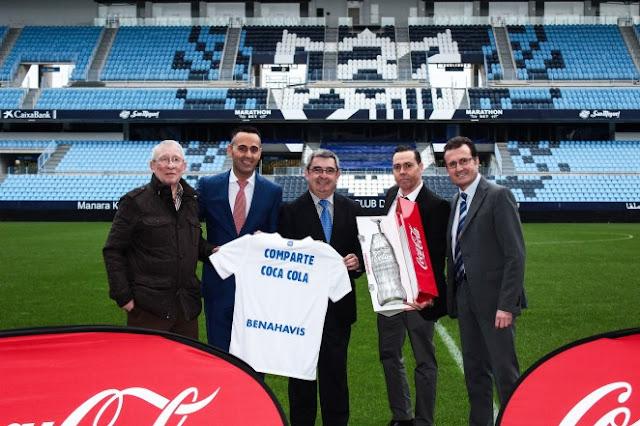 Coca-Cola renueva su alianza con el Málaga