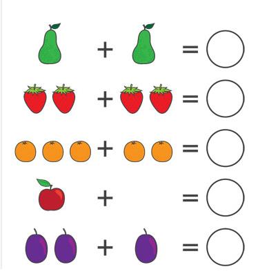 طريقة تعليم الجمع للأطفال