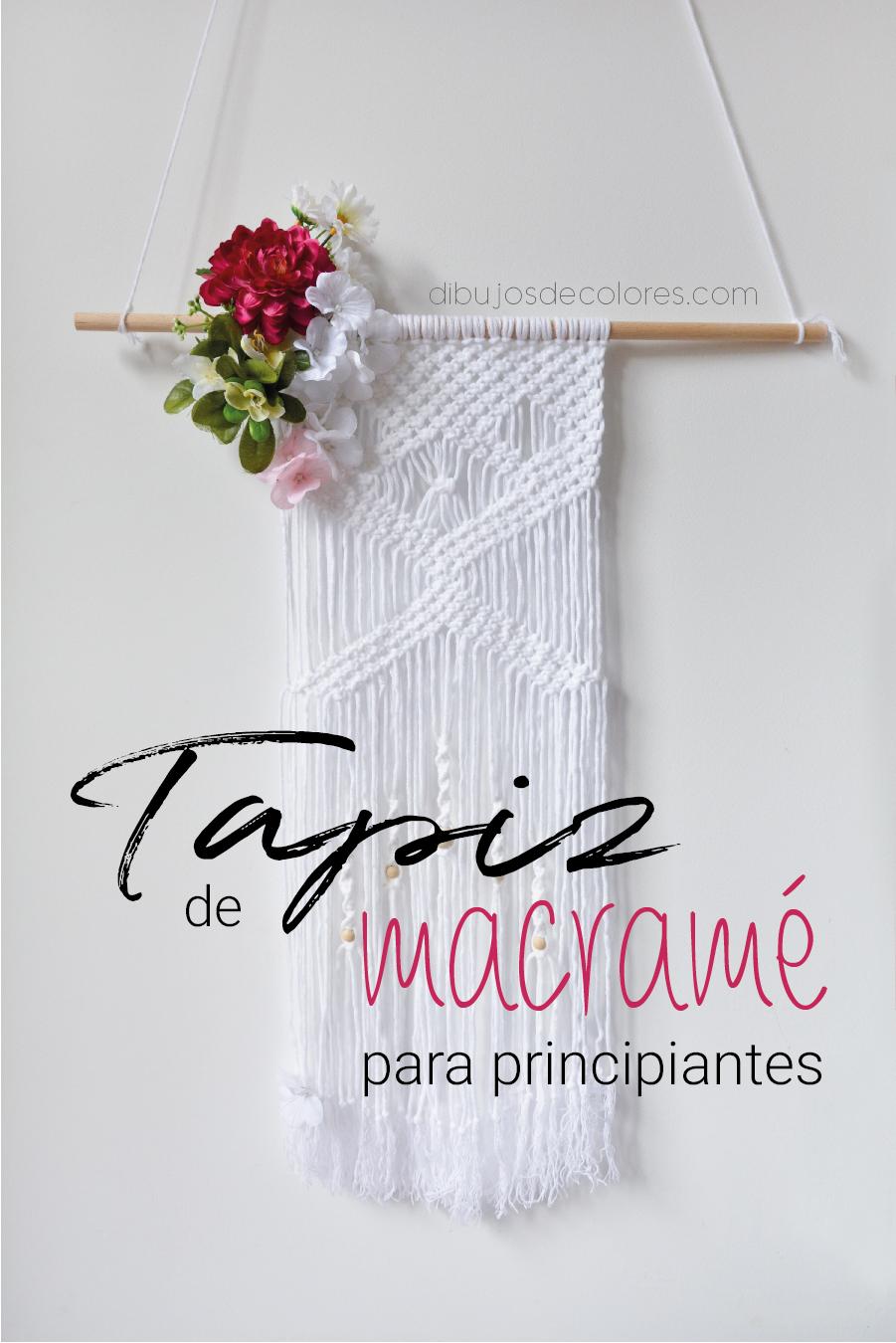 5ae89b37a21a Macramé para principiantes: Cómo hacer un tapiz paso a paso ...