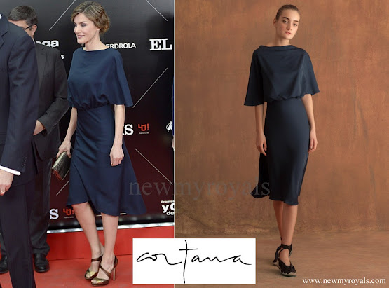 Queen Letizia wore Cortana Valentina Dress