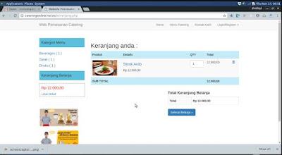 Fitur Aplikasi Pemesanan Catering Online dengan PHP