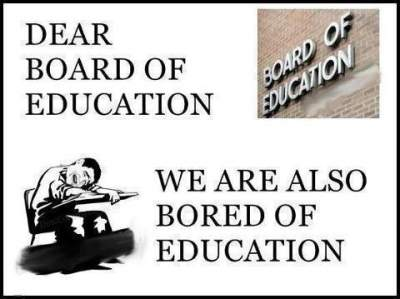 funny message to board of education