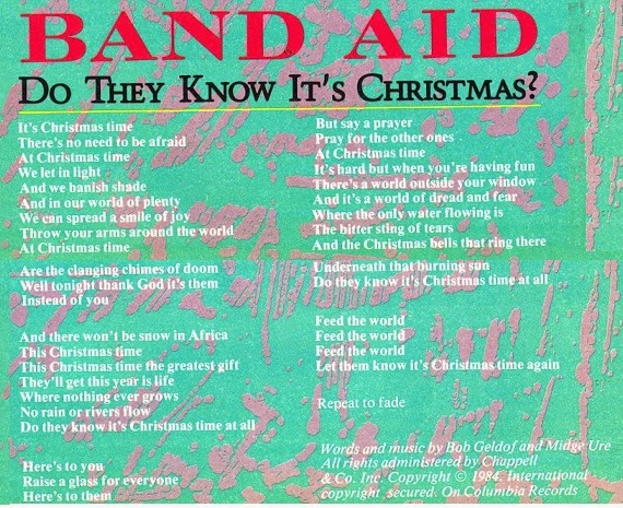 Do They Know Its Christmas Lyrics.Top Of The Pops 80s Band Aid Do They Know It S Christmas