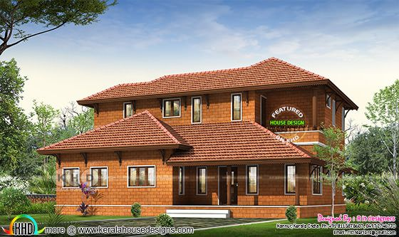 Typical traditional Kerala home design 3447 sq-ft