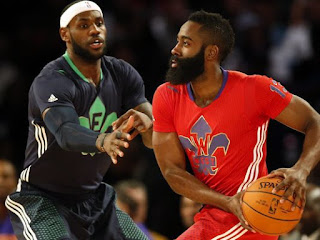 Lebron James and James Harden