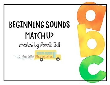Practice beginning sounds with this beginning sounds match-up activity. Print and use this beginning sounds activity within minutes. Check out this post to see this activity used during a guided reading group.