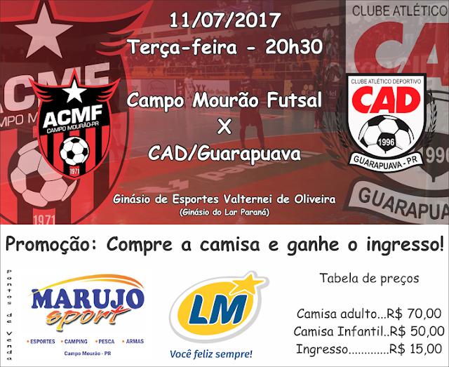 Mais uma promoção imperdível do Campo Mourão Futsal para deixar o torcedor  com a