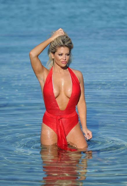 Bianca Gascoigne – Bikini candids in Greece