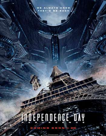Poster Of Independence Day Resurgence 2016 English 400MB HC HDRip 720p ESubs HEVC Free Download Watch Online Worldfree4u