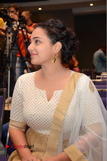 Actress Nithya Menen Pictures at 100 Days of Love Pre Release Press Meet  0175.JPG