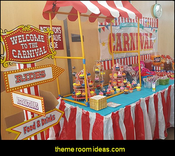 circus party decorations  circus themed party decorations - carnival circus theme party decorations - circus carnival themed birthday party - Ice Cream theme decor -  circus party supplies - Circus Party Props - circus costumes