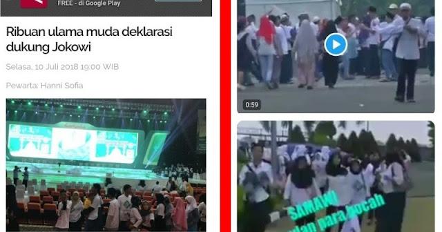5 Fakta Diungkap Netizen dari Acara Dukungan Solidaritas Ulama Muda Jokowi di Sentul