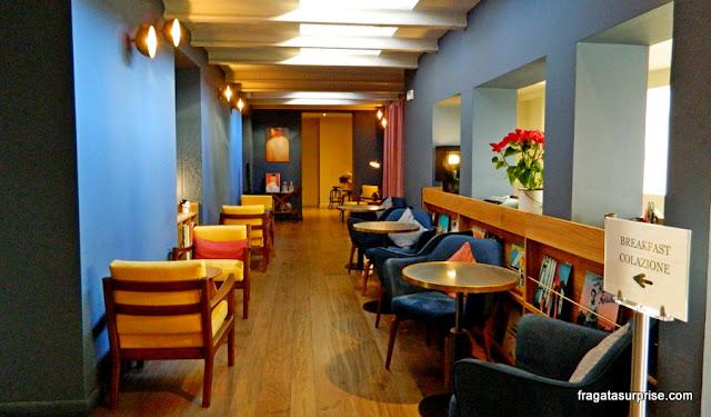 Salão do café da manhã do Hotel C-Diplomat, Florença