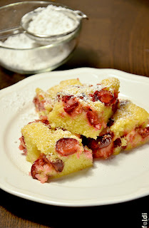 sour cherry butter sponge cake