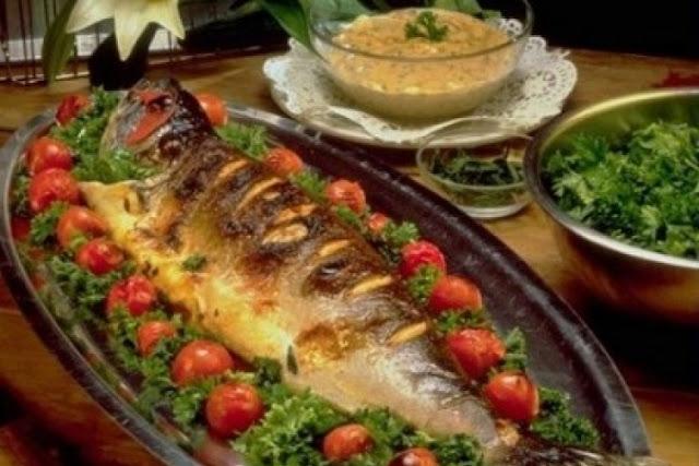 السمك المتبل في الفرن Fish seasoned in the oven