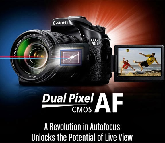 Canon-70D Canon Dual Pixel CMOS AF enabled DSLR camera