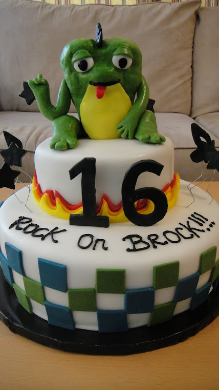 Rock on Frog Bday Cake