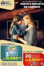 Promoção Central Plaza Dia das Mães 2019 - 10 Mil Reais Vale-Viagem