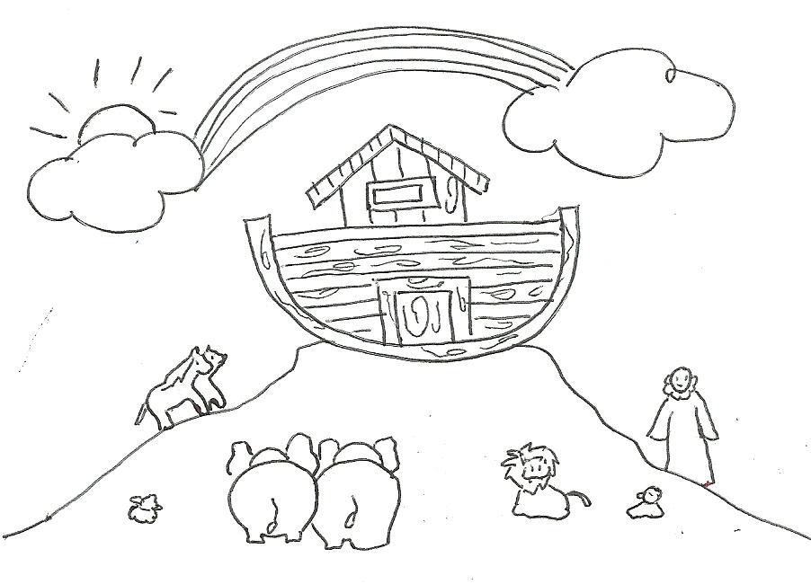 Dibujos Para Colorear Del Arca De Noe Para Imprimir: Rose AmarArtes: Arca De Noé Para Colorir