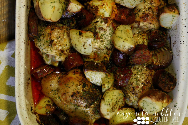 Tender chicken thighs with spicy chorizo and sweet orange | Anyonita-Nibbles.co.uk