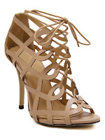 sandals, stiletto sandals, nude shoes