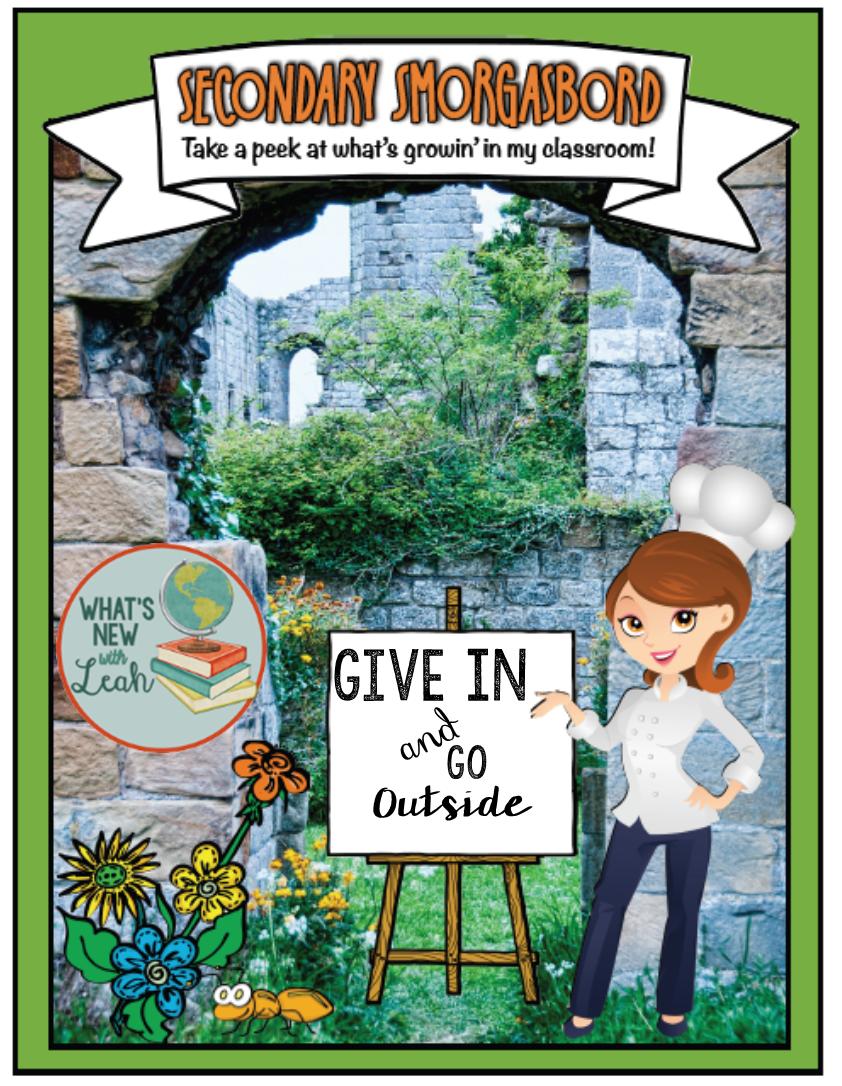 What's my seventh spring survival tip for teachers? I'm suggesting you give in and go outside! Your students will thank you, and there are SO MANY ways you can conduct low-tech but highly relevant lessons that cover social studies, English language arts, and more. Click through to read my suggestions!