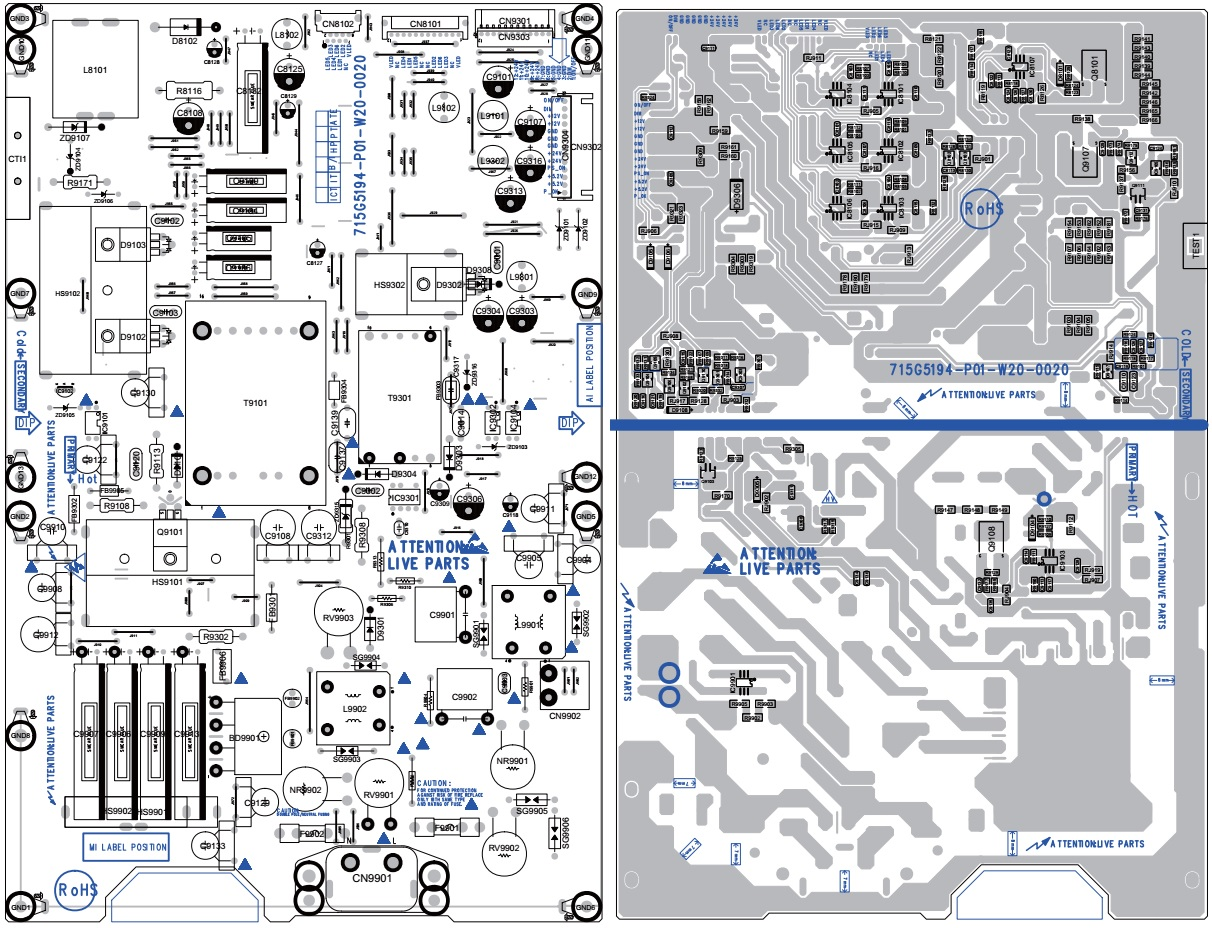 715g5194 Power Board Circuit Diagram  U2013 Philips 32 And 37 Inch 3500  4000 Series Lcd Tvs And Vizio