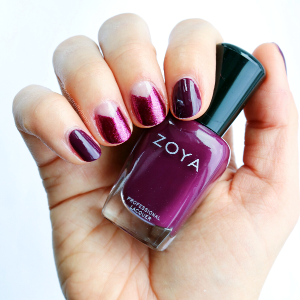 Negative Space Fall Burgundy Manicure - Zoya Tara - Tori's Pretty Things Blog