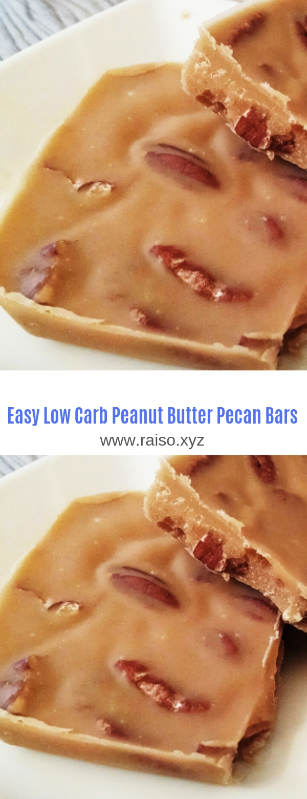 Easy Low Carb Peanut Butter Pecan Bars
