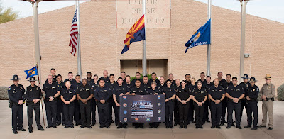 group photo of Class #506 from the Phoenix Regional Police Academy
