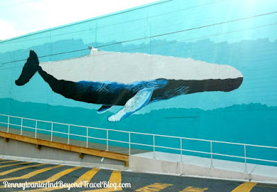 Coastal Street Art Whale Wall Mural in Wildwood, New Jersey