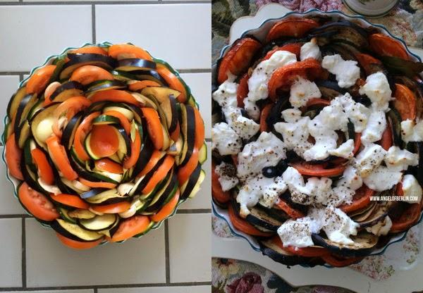 Ziegenkäse-Gemüse-Gratin