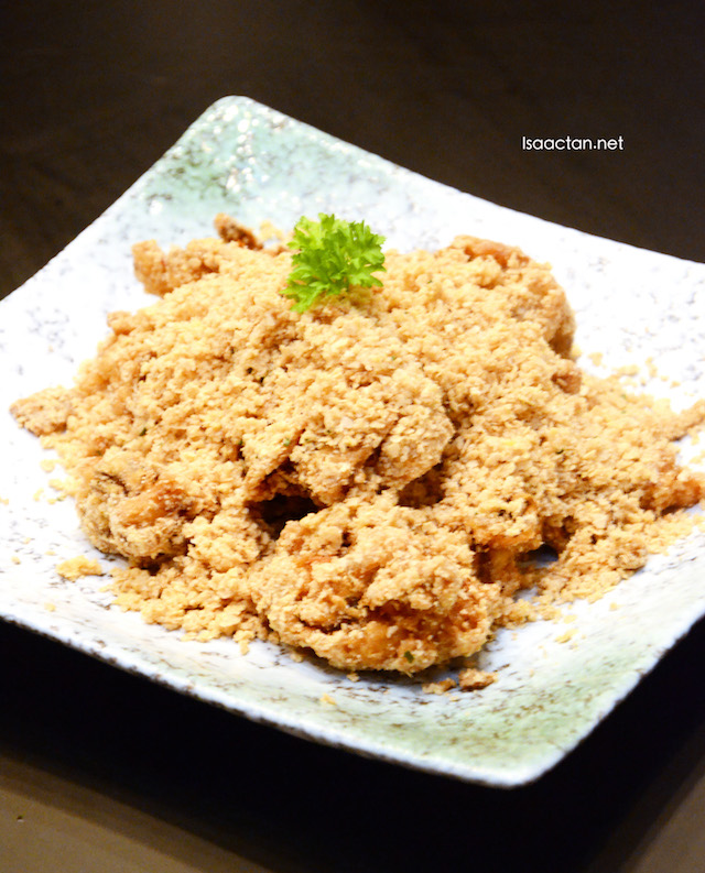 Soft Shell Crab with Oatmeal and Salted Egg Yolk