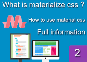 What is materialize css and how use it