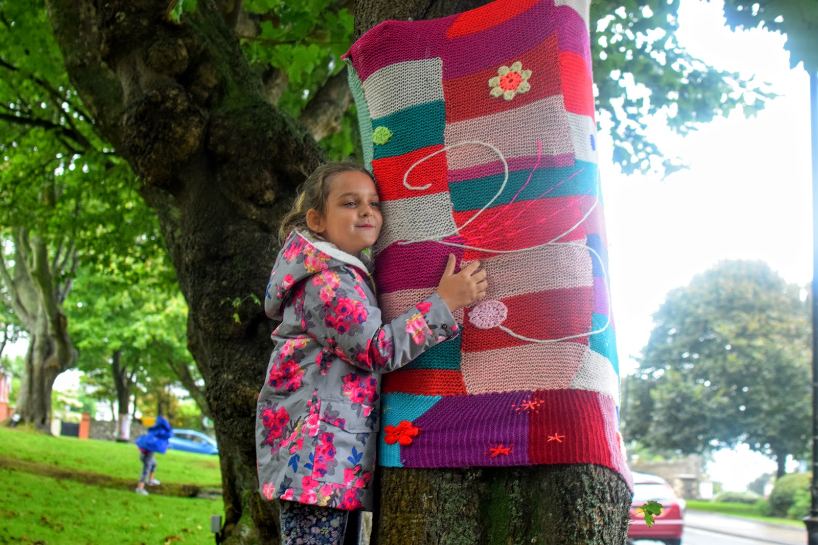, Haverfordwest Yarn Bombers Decorate the Memorial Gardens, Milford Haven #RoaldDahl100