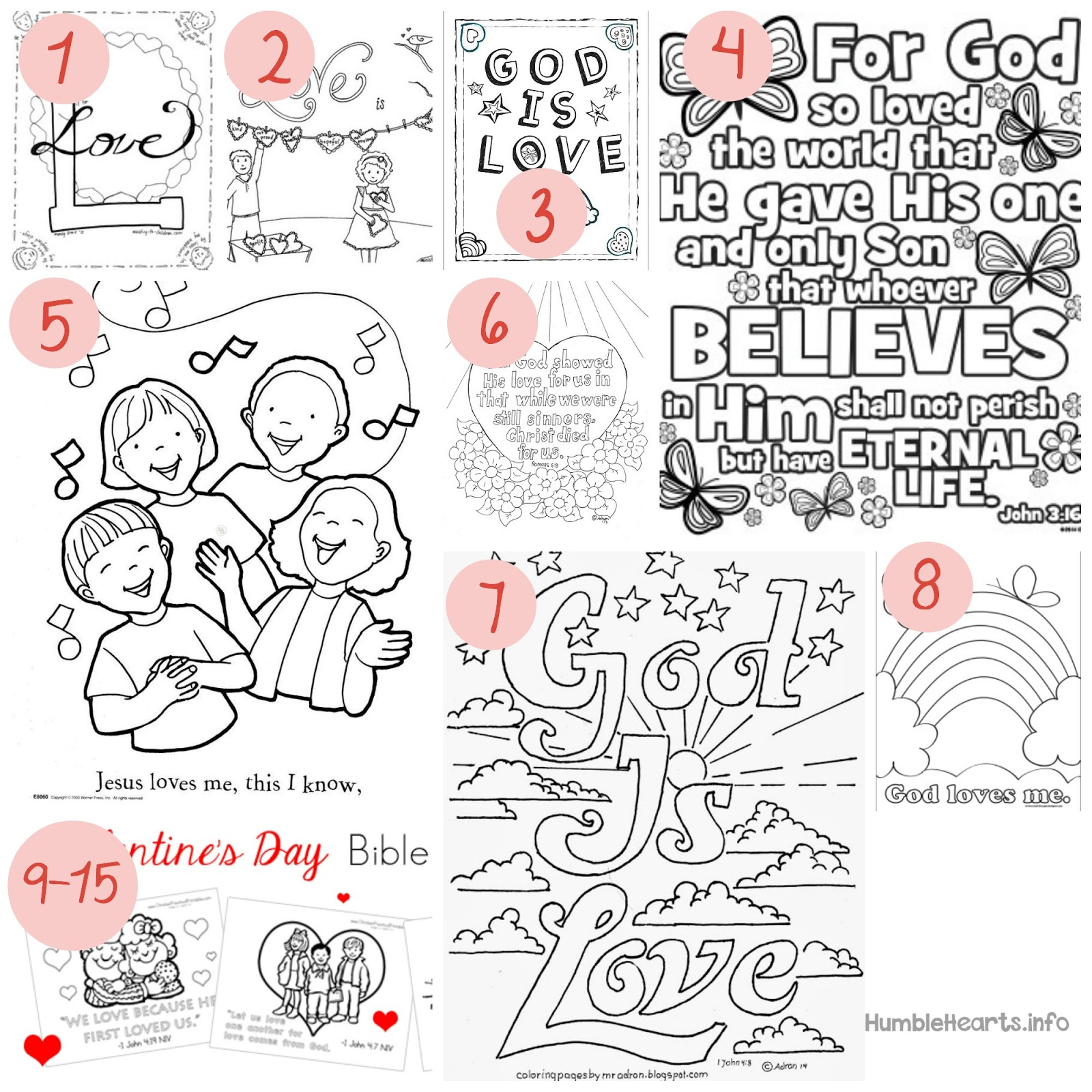 15 Coloring Pages About God S Love Short And Sweet Humble Hearts