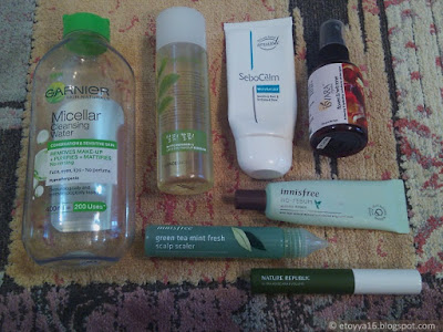 Garnier, The Face Shop, Sebocalm, Isvara Organics, Innisfree, Nature Republic
