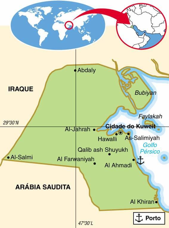 KUWAIT, ASPECTOS GEOGRÁFICOS E SOCIOECONÔMICOS DO KUWAIT
