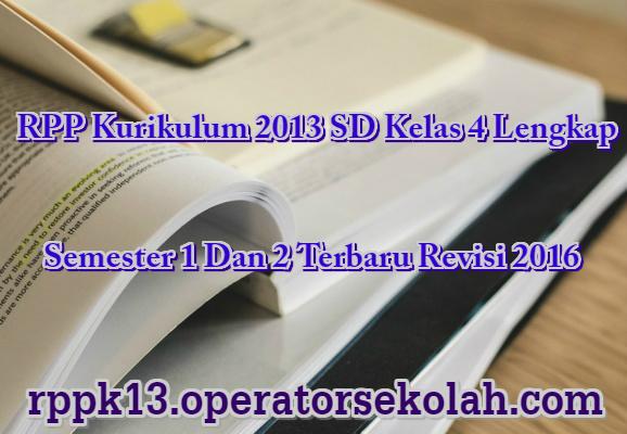RPP Kurikulum 2013 SD Kelas 4 Lengkap