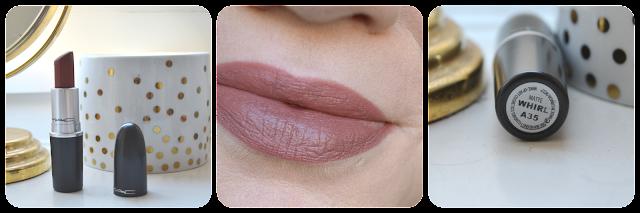 MAC, Lipstick, Mac cosmetics, Matte, Swatch, Tragebild, Lipswatch, Whirl, Whirl Lipstick